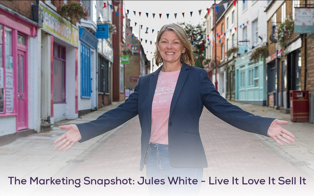 The Marketing Snapshot: 2 – Jules White – Live It Love It Sell It