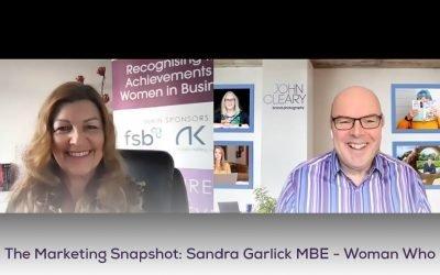 The Marketing Snapshot: 4 – Sandra Garlick – Woman Who founder